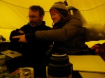 Ted and Erin, stuck in the tent