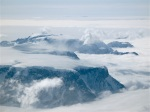 antarctic peninsula, moutnains, glaciers, and clouds